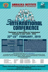 3rd International Conference on Cotii 2019